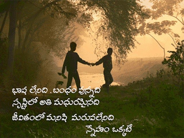friendship quotes in telugu