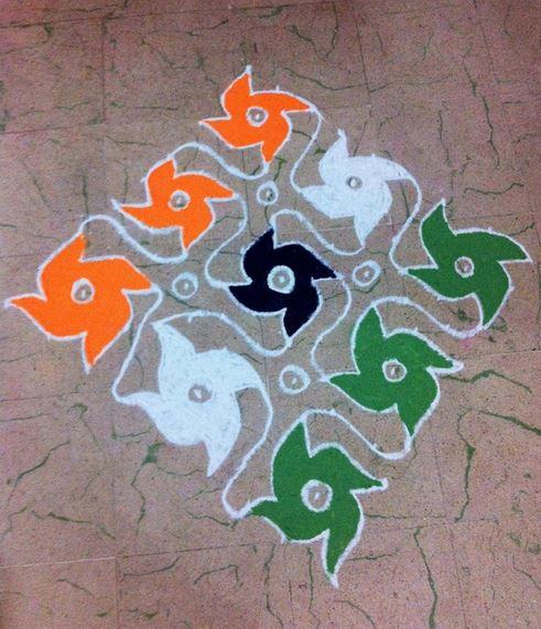 simple rangoli designs for republic day