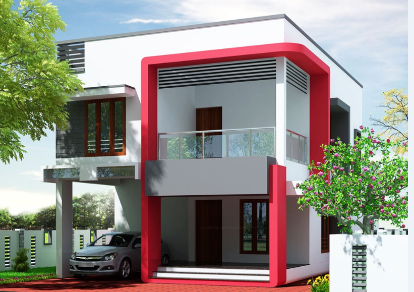 Top 10 best indian homes interior designs ideas for Exterior house design for small spaces