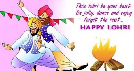 happy lohdi images with punjabi quotes
