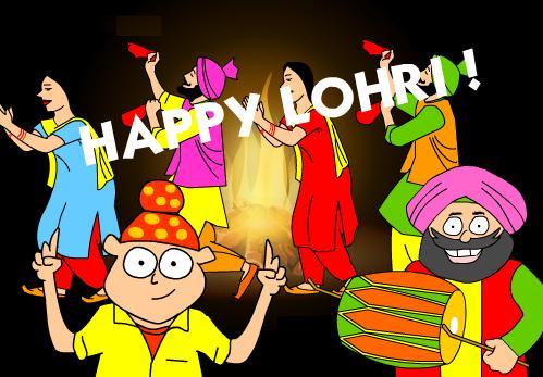 happy lohri funny hd wallpapers