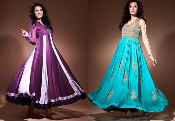 pakistani anarkali suits designs for party