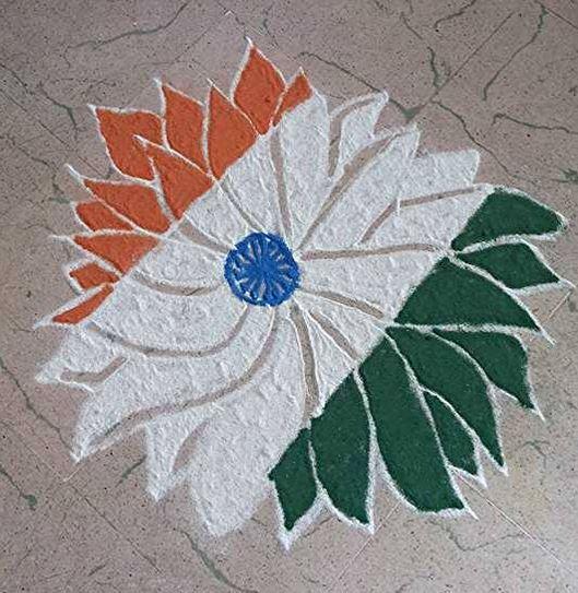 flag rangoli designs for republic day