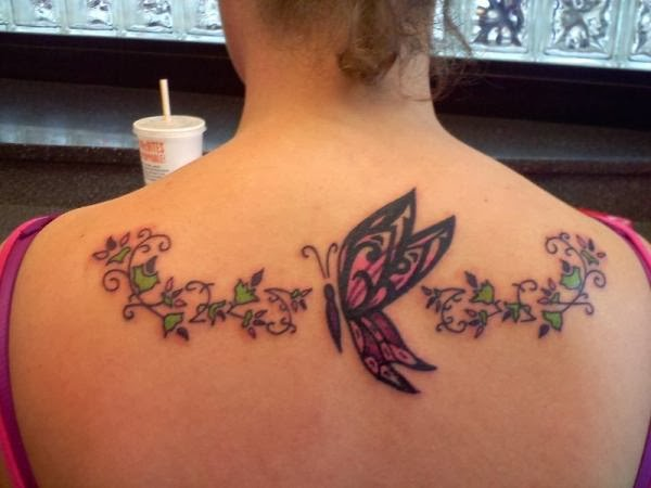 splendid back neck tattoo design