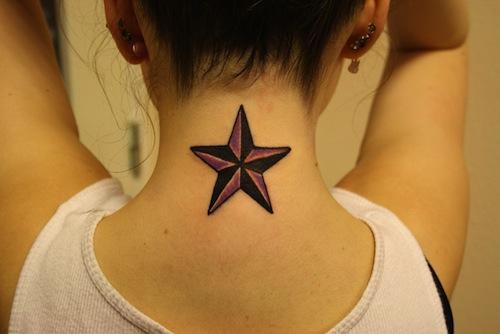 star shape tattoo design