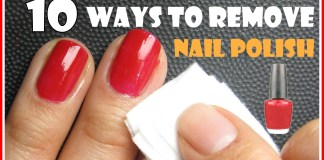 how to remove nail polish without remover