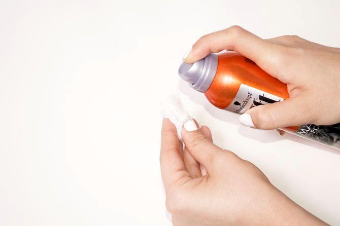 hair spray as nail paint remover