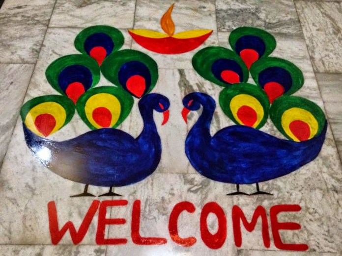 free hand rangoli designs for beginners