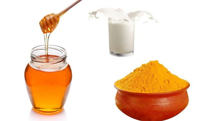 Turmeric, milk and honey