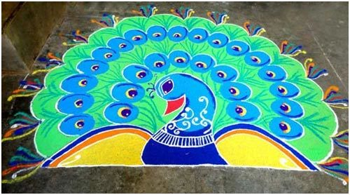latest rangoli designs free hand