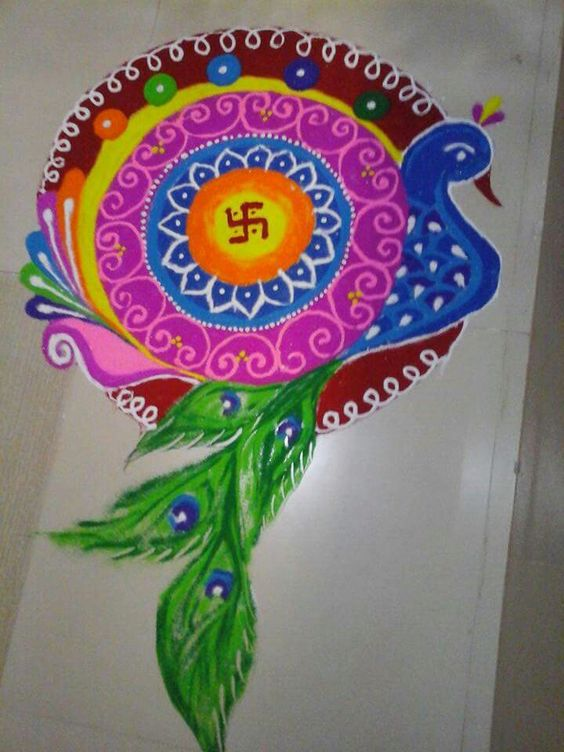 easy rangoli designs for holi