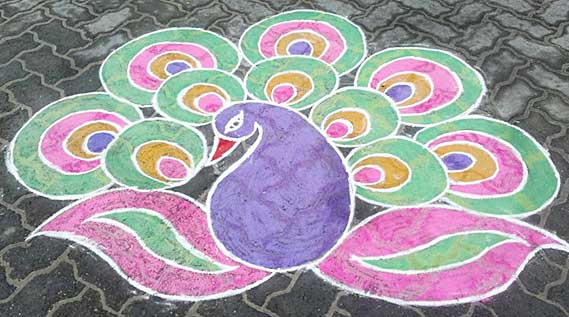 Top Latest Best Beautiful Easy Peacock Rangoli Design - 50 best simple rangoli design special diwali wallpapers hd free download
