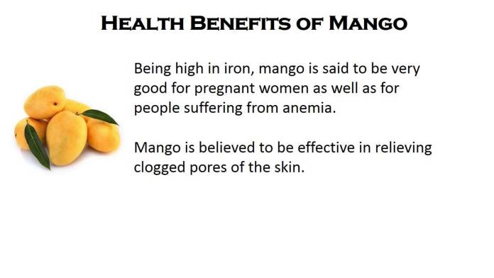 benefits of mangoes for health