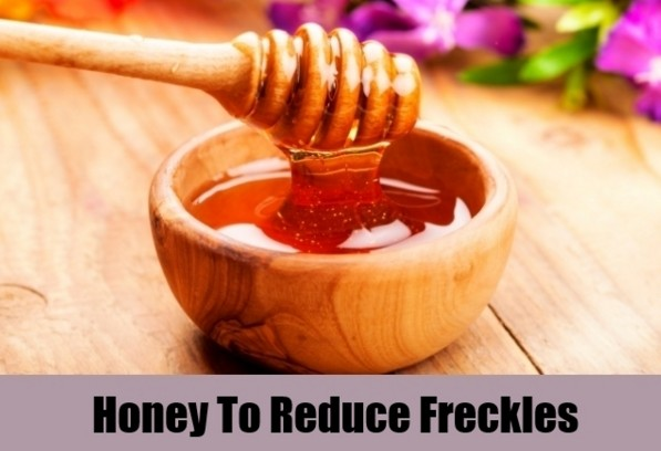 Honey for the removal of freckles