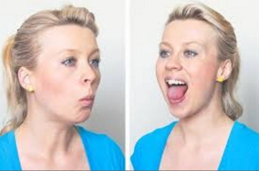 Jaw release exercise fto loose face fat