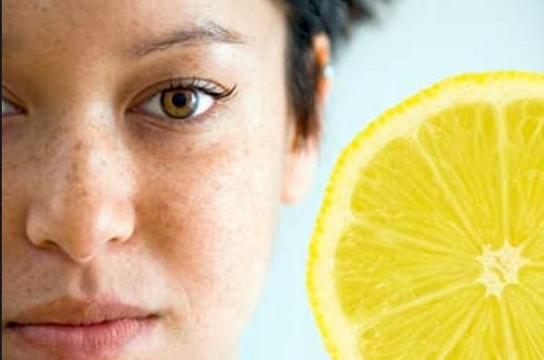 Lemon for the removal of freckles
