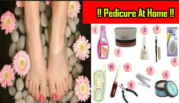 Perform pedicure at home
