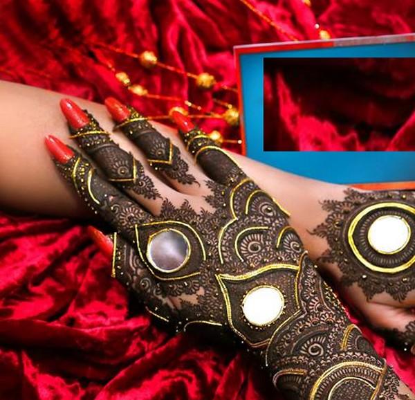 embellished heena design