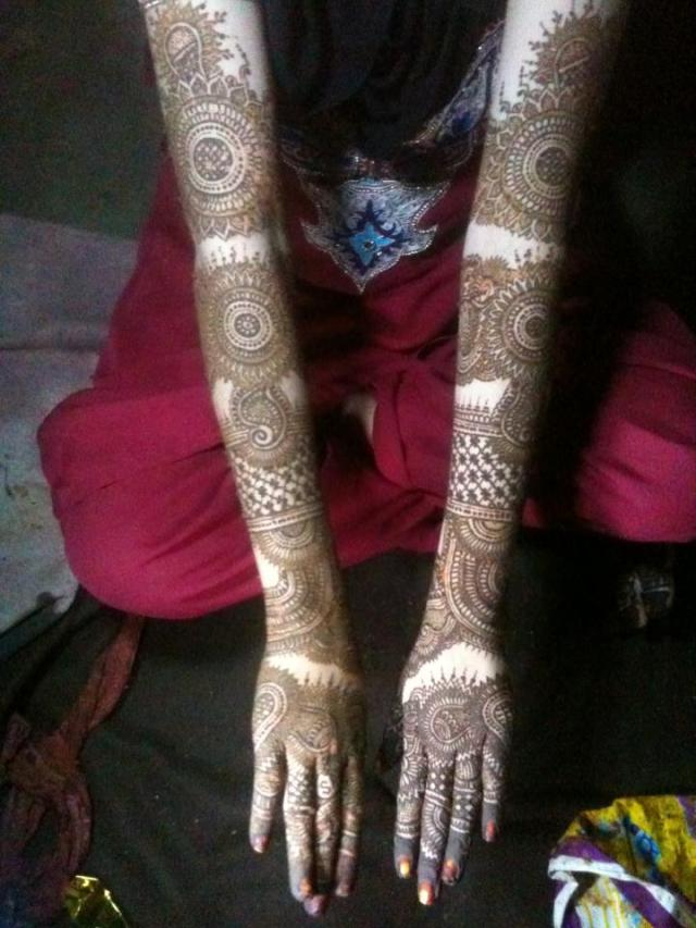 full hand bridal mehendi designs