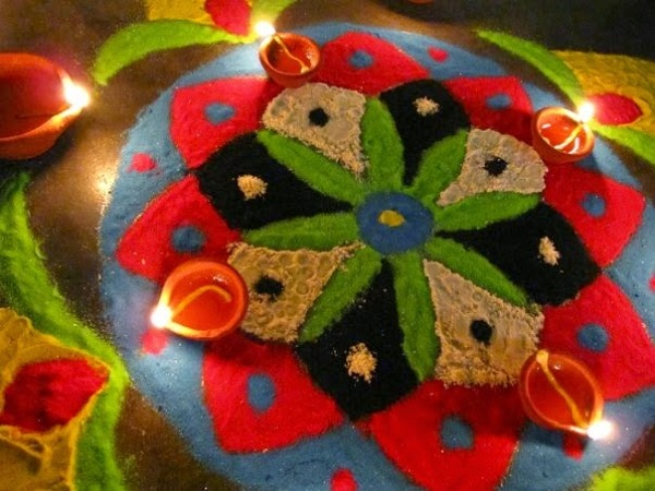 best rangoli design for diwali 2015