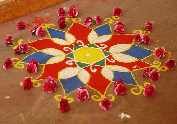 simple rangoli design for occasions