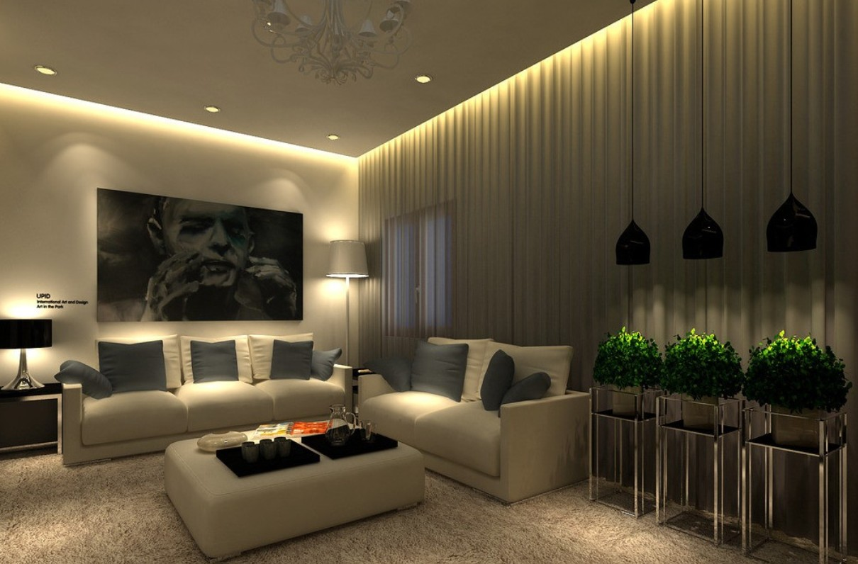 The Beautiful Ceiling Design of Living room looks very attractive and  classy Though the look looks quite costly but the Sofa  that wallpaper    the all. 25 Latest False Designs For Living Room   Bed Room