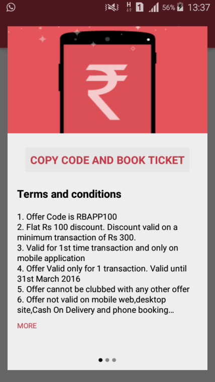 Steps to Avail Redbus Coupon Codes