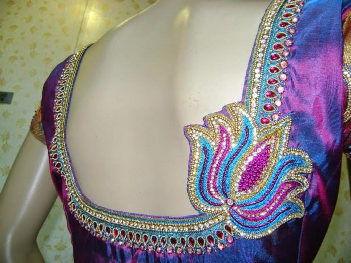 kundan blouse design