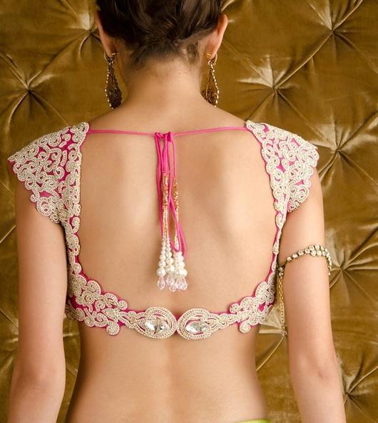 expensive designer blouse design