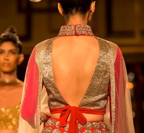 designer back neck blouse design