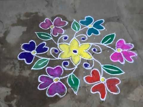 easy rangoli designs images