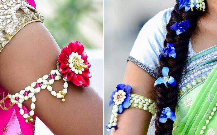 Flower Jewellery For Mehndi Uk : Beautiful flower jewellery designs for indian brides wedding ceremony