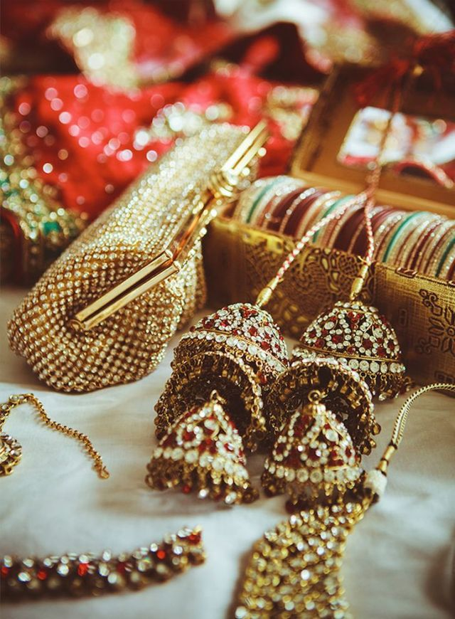 beautiful golden punjabi wedding kalire