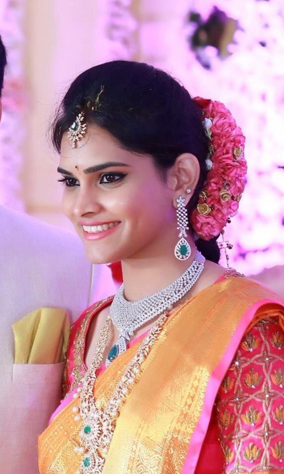 south indian bridal make up
