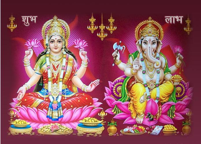 ganesha with maa lakshmi images