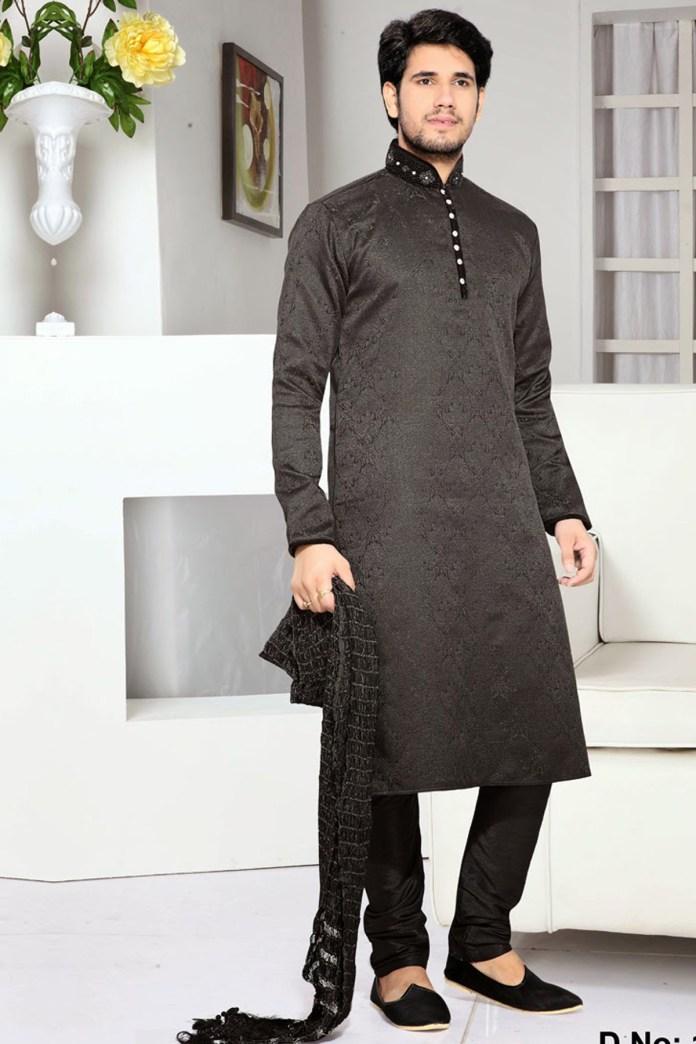 black punjabi kurta pajama designs