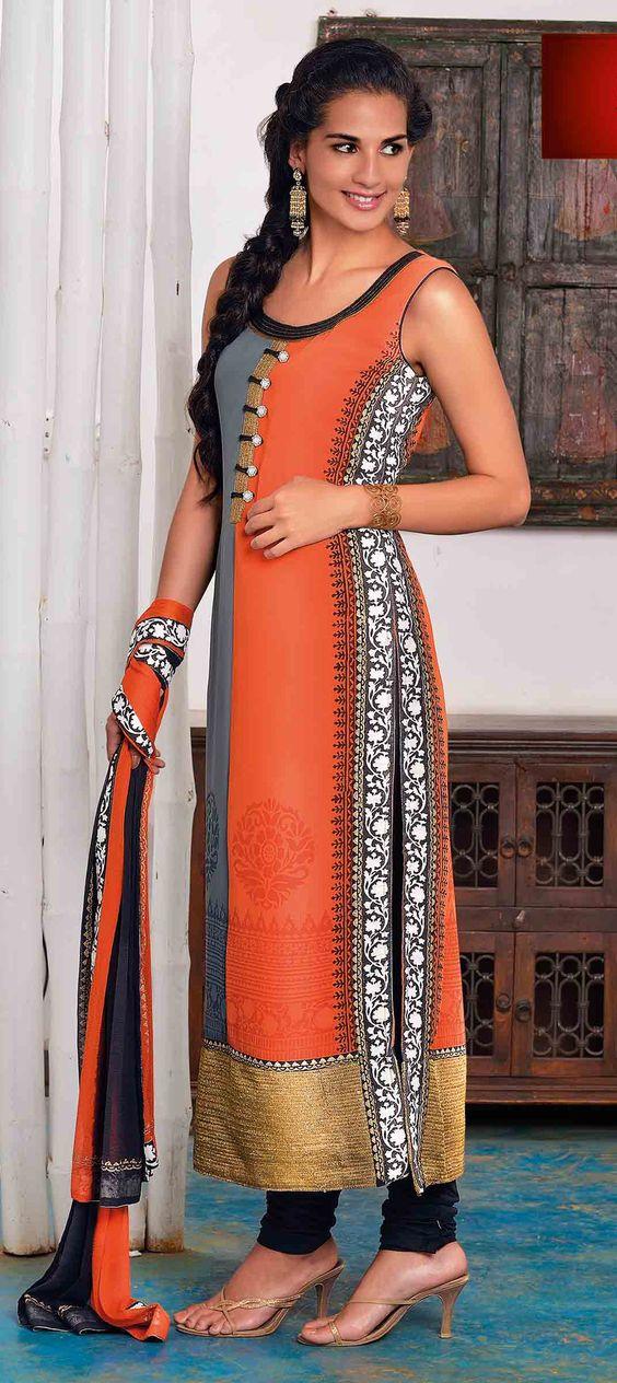 simple kurti suit designs