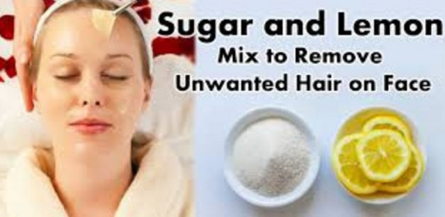 Sugar And Lemon Mix To Remove Facial Hair