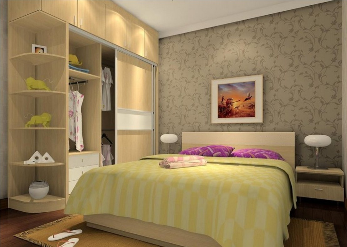 Indian bed furniture design - Simple Indian Wardrobes Furniture Design For Bedroom