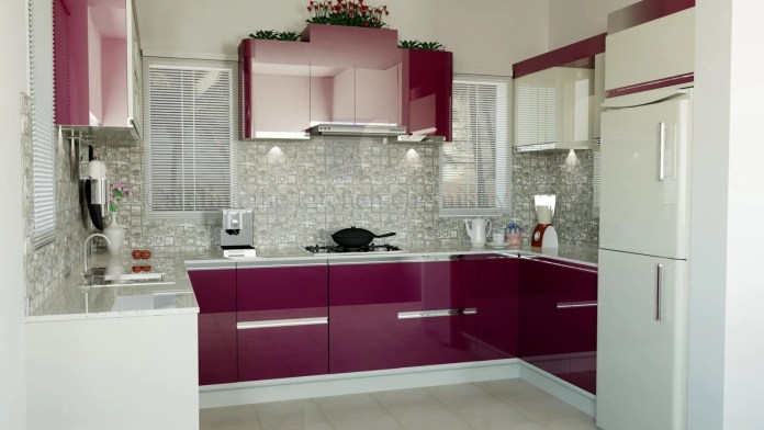 Perfect Pink Modular Kitchen ideas and pictures