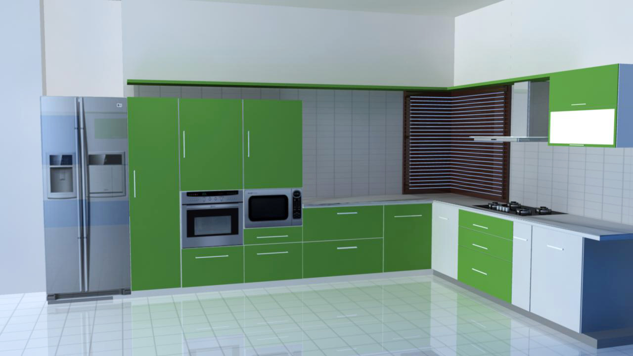 L Type Kitchen Design