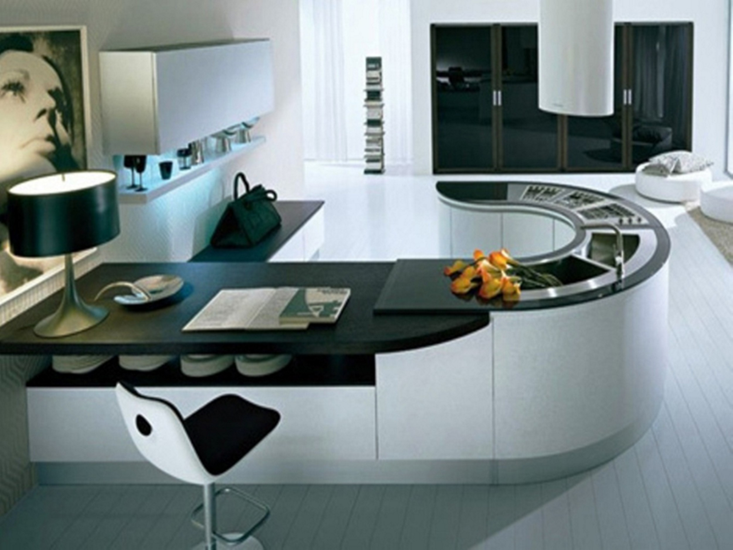Latest indian modular kitchen design - U Shaped Modular Kitchen Design
