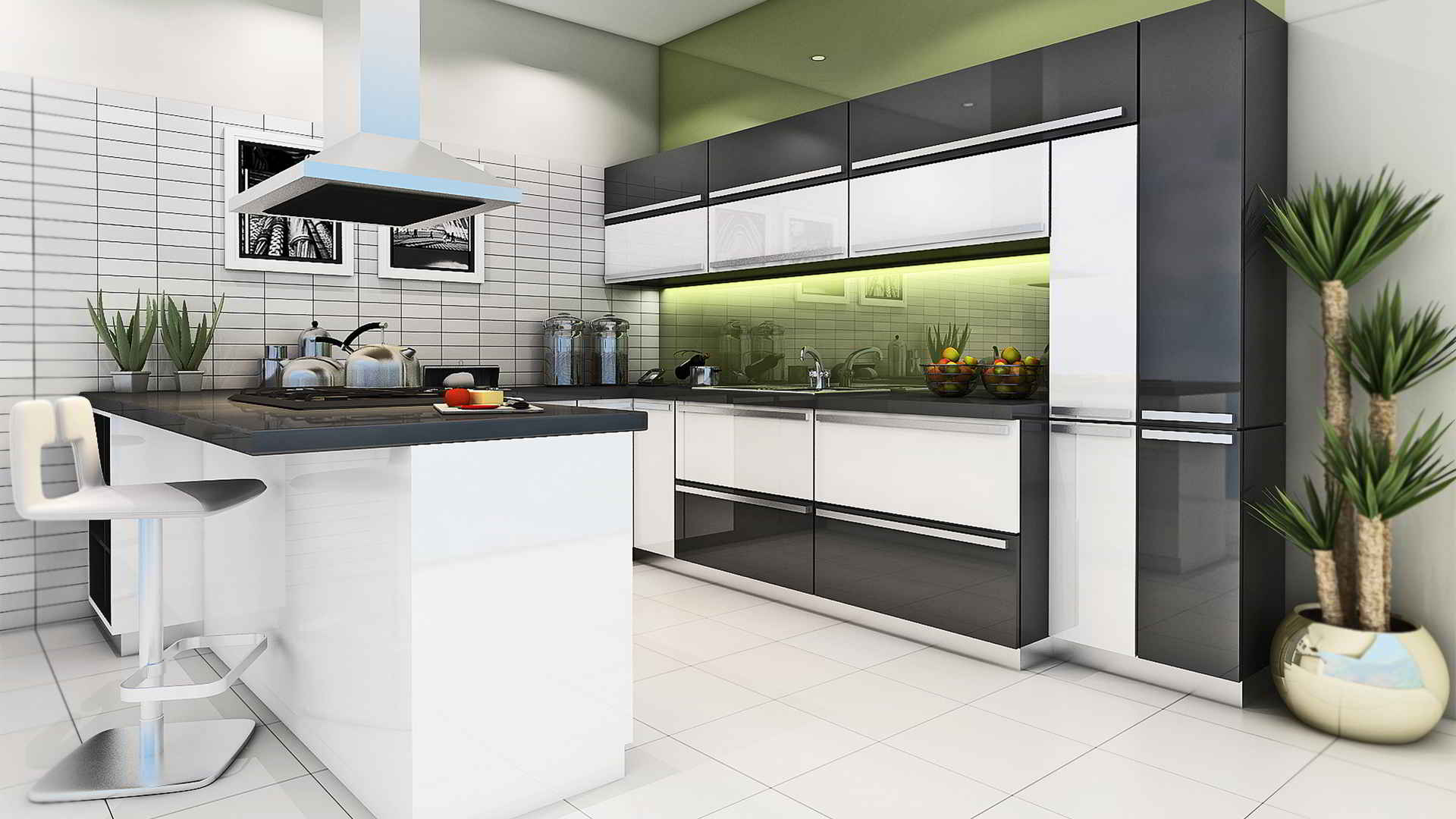 Latest indian modular kitchen design - Though The Design Looks Quite Classy And Costly People Are Found To Ignore It Because Of The Less Space Available Indian Modular Kitchen