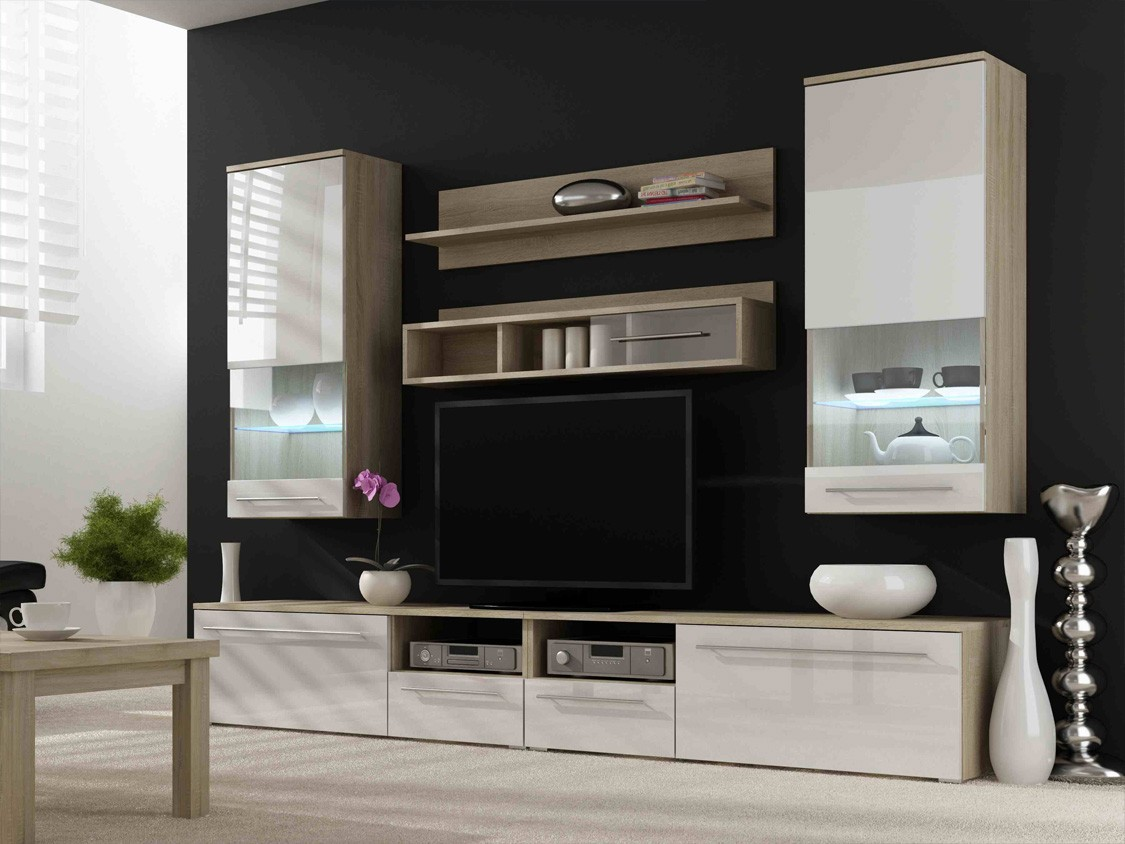 20 modern tv unit design ideas for bedroom living room How high to mount tv on wall in living room