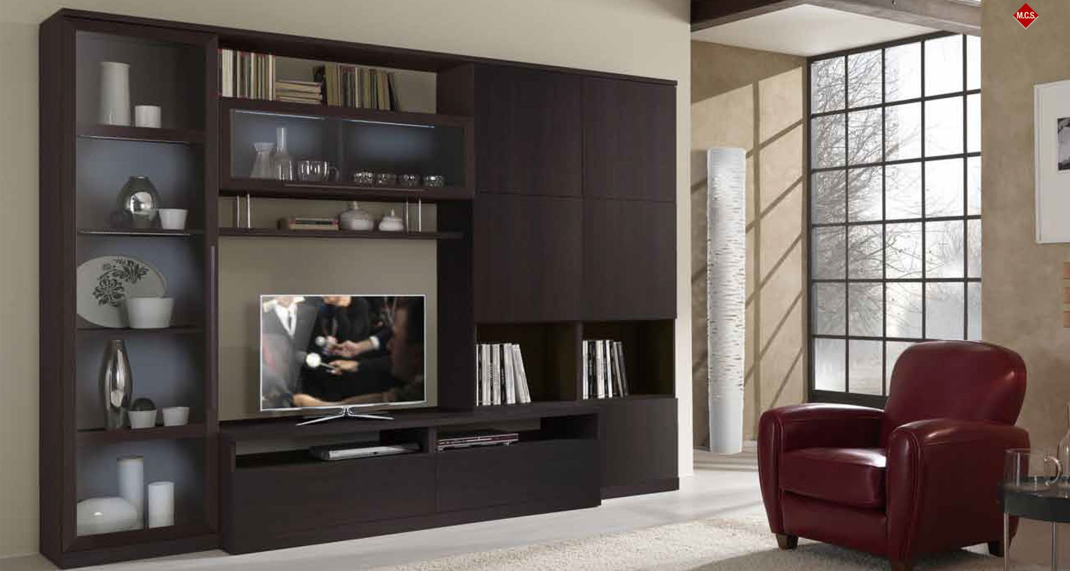 Tv Wall Cabinet. Photo The Storage Cabinet. Shutter Tv Wall ...