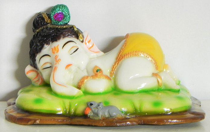 sleeping bal ganesha