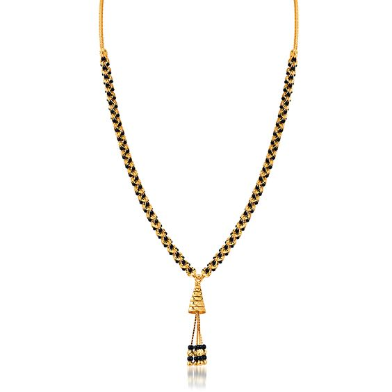 simple gold mangalsutra design