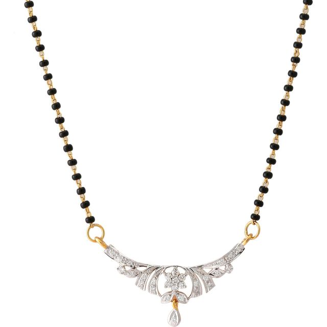 diamond mangalsutra design