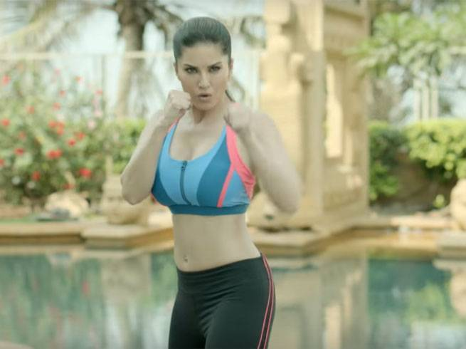 sunny leone morning workout