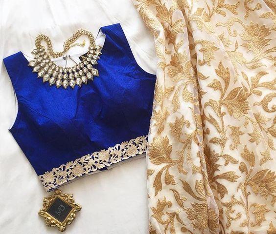 jewel look blouse design